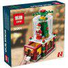 Creative Gifts Series Christmas Snow House Children Day Gifts Fun Particles Assembled Building Blocks Toys - MULTI-B