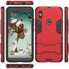 Armor All-inclusive Bracket Three-in-one Matte Drop-proof Protective Phone Case for Xiaomi Redmi S2 - RED WINE