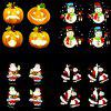 Led Animation Film Projection Lamp Christmas Animation Lights Outdoor Waterproof Lawn Dynamic Decorative Lights - BLACK