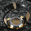 Winner F120586 Male Full Hollow Automatic Mechanical Watch - GOLD