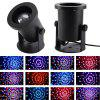 LED RGB Crystal Magic Ball Light Sound Control Stage Lighting Laser Spotlight - BLACK