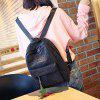 Women's Chic Backpack Fashion Leisure Student Bag - BLACK