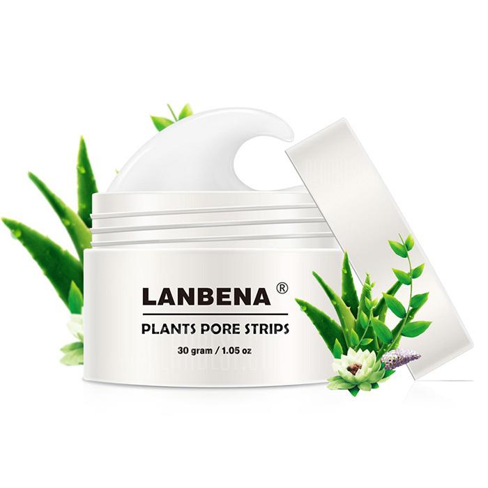 LANBENA Blackhead Tearing Kraftig Acne T Area Care Nasal Mask - HVIT