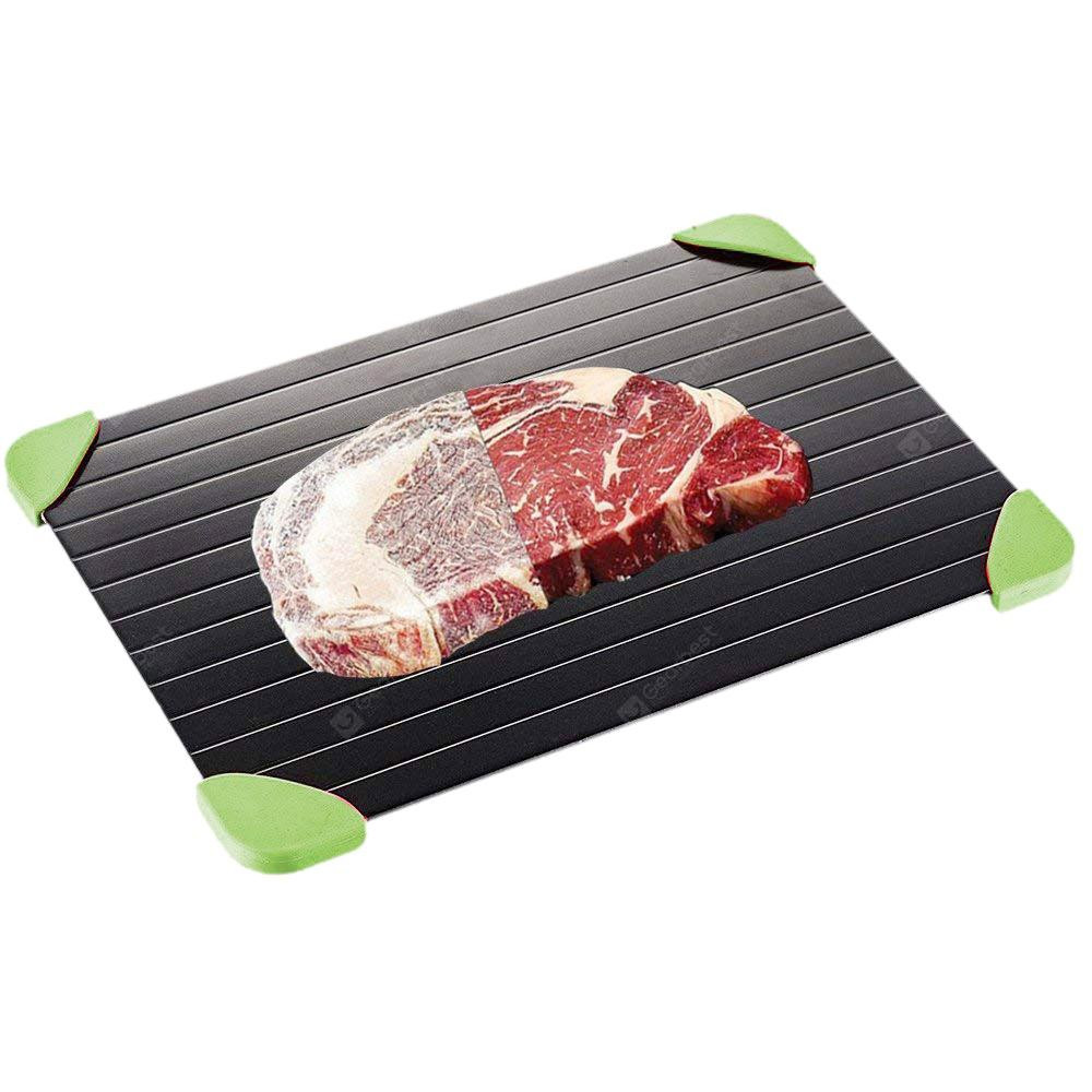 Gossip ZIS - D004 Non-stick Kitchen Fast Defrosting Tray - BLACK