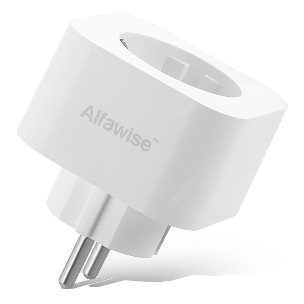 Alfawise Smart Plug EU Standard Works with Alexa Google Home - WHITE