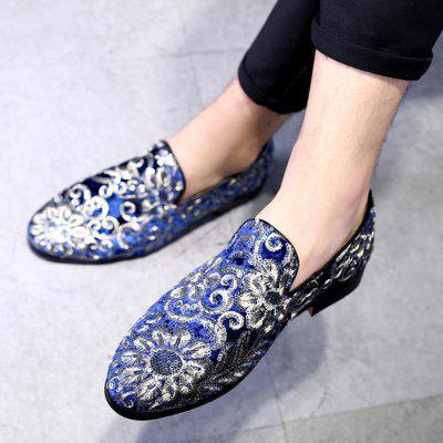 Fashion Embroidered Men's Shoes