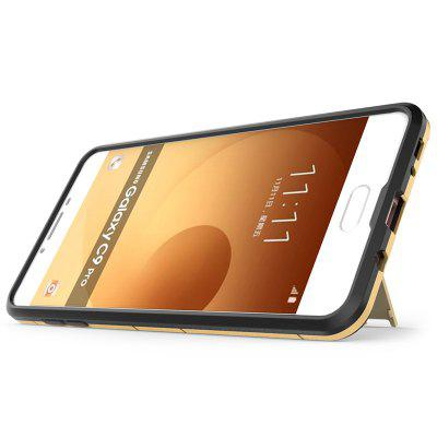 Armor All-inclusive with Bracket Three in One Matte Drop-proof Protective Shell Mobile Phone Shell for Samsung C9