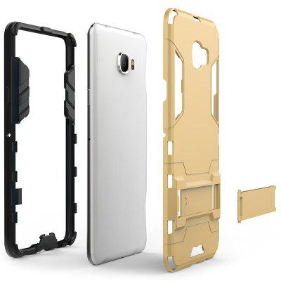 Armor All-inclusive with Bracket Three-in-one Matte Drop-proof Protective Shell Mobile Phone Case for Samsung Galaxy C7