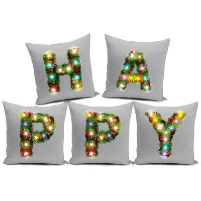 Christmas LED Lights Velvet Hug Pillowcase Creative Cushion Cover