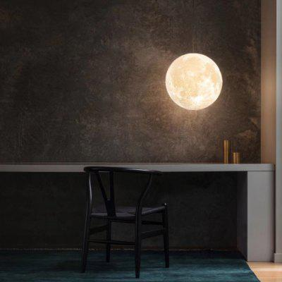 Hanging 3D Printed Moon Light Remote Control 16 Color Chandelier