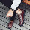Casual Oxford Shoes Men Shoes - SANGRE ROJA