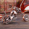 Metal Wrought Iron Motorcycle Model European Ornaments - BRONZE