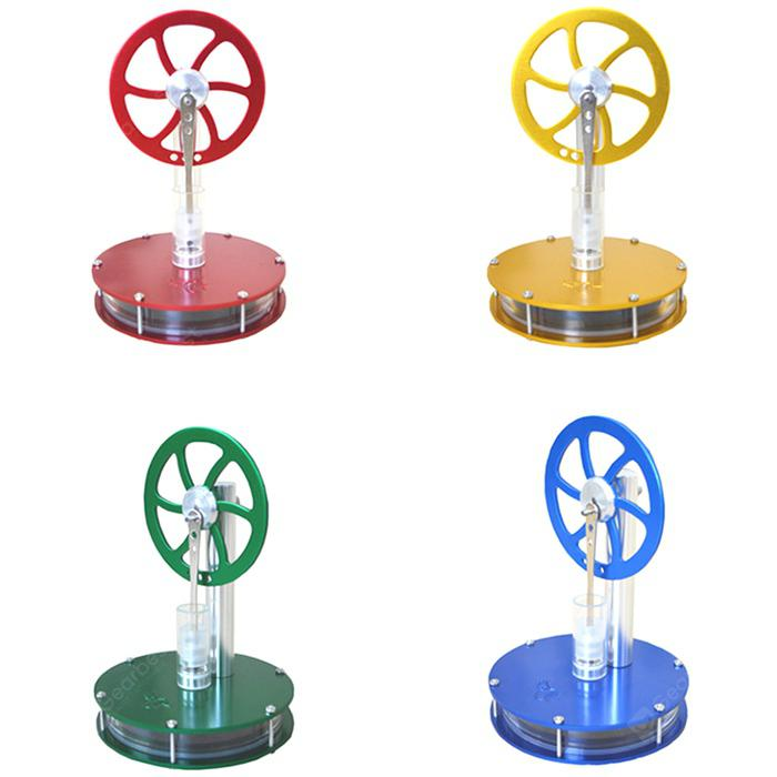Low Temperature Difference Stirling Engine DIY Toy - CLOVER GREEN