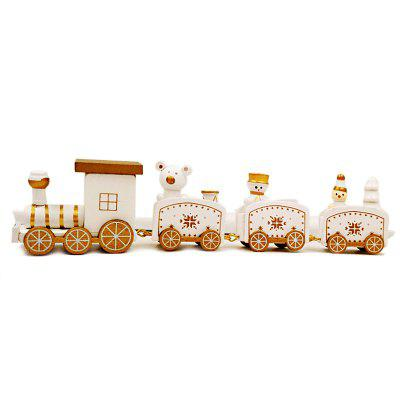 Christmas Train Decorations Wooden Trains Birthday Gifts