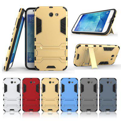 Armor All-inclusive With Bracket Three-in-one Matte Drop-proof Protective Shell Mobile Phone Case for Samsung GALAXY J7 2017