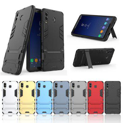 Armor All-inclusive With Bracket Three-in-one Matte Drop-proof Protective Shell Mobile Phone Case for Samsung GALAXY A9 Star / A8 Star