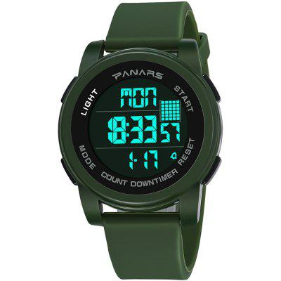 PANARS 8100 Waterproof Two Time Time Perpetual Calendar Fashion Sports Multi-function Electronic Watch with Box