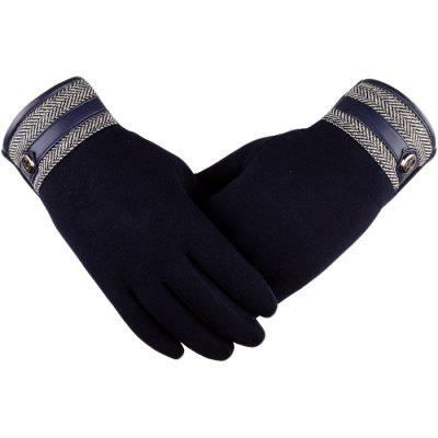 Men's Non-falling Touch Screen Business Casual Autumn And Winter Gloves