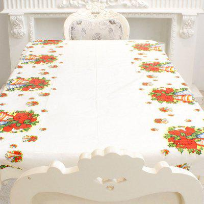 Merry Christmas Rectangular Tablecloth Kitchen Dining Table Cover