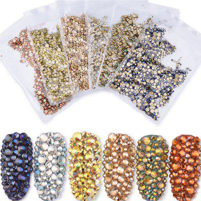 Nail Art Jewelry Multi-normes Metal Strass Couleur 1440 Grains