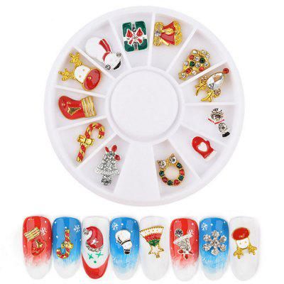 Christmas Series Nail Art Rhinestone Jewelry 12pcs