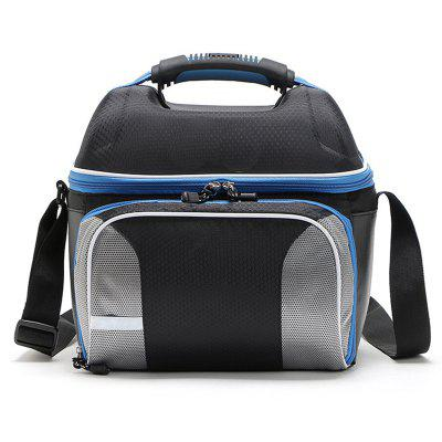 Large Capacity Plastic Portable Insulation Package Picnic Shawl Portable Lunch Bag