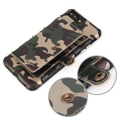Camouflage Belt Card Slot Photo Frame Mobile Phone Holster for IPhone 6/7/8 Plus