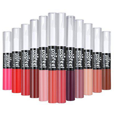 POPFEEL 12 Matte Color Lasting Lip Gloss + Moisturizing Liquid