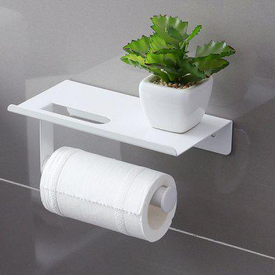 Sticky Wall Paper Towel Rack Toilet Mobile Phone Holder