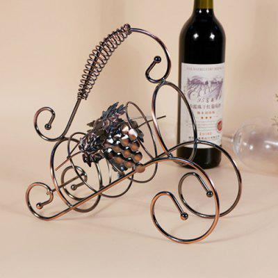 Decoration Gift Wire Craft Wine Rack Bold Red Wine Bottle Ornaments for European Home