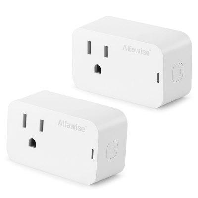 Alfawise Smart Plug 2PCS US Standard Works with Alexa Google Home