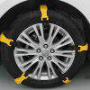 Car Widened Tire Snow Chains Universal Beef Tendon Tool 10pcs - RUBBER DUCKY YELLOW