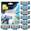 Giulietta GF4 - 0564 Four-layer Razor Manual Razor 8pcs - DEEP SKY BLUE