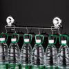 Stainless Steel Suction Cup Hook Strong Vacuum Suction Wall Hanging Rack with 6 Hook - SILVER