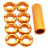 Radio Control Switch Color Nut for Radio Control Spektrum Remote  8pcs RC Transmitter - GOLDENROD