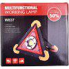 Triangle COB Work Light Multi-function Charging Portable Car Repair Led Warning - MUSTARD