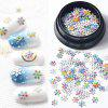 Ultra-thin Colorful Metal Piece Christmas Series Nail Jewelry One Box - MULTI-B