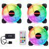 Light RGB Chassis Desktop Computer Cooling Fan Set - WHITE