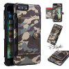 Camouflage Belt Card Slot Photo Frame Mobile Phone Holster for IPhone 6/7/8 Plus - GREEN