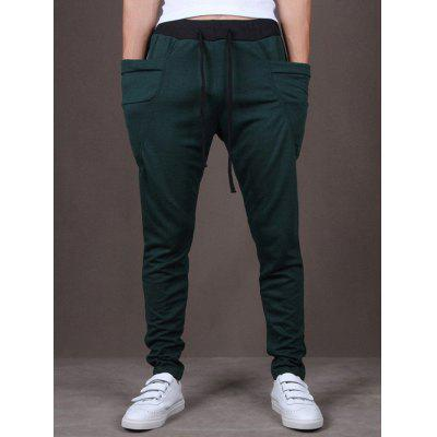 Men Harlan Casual Pants Elastic Waist Feet Sports Trousers