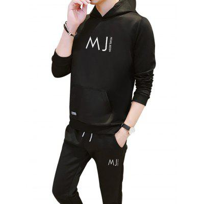 Sweater Men Hooded Pullover Jacket Spring Autumn Loose Long-sleeved Sports Suit