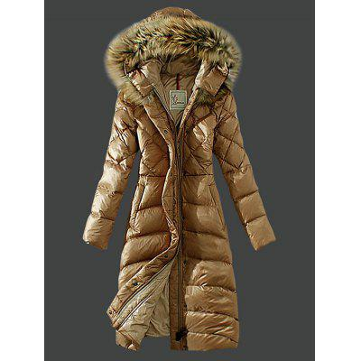 SYWT 0102 Women Down Jacket Parka with Hooded Fur Collar