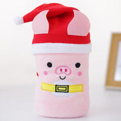 Christmas Gifts Creative Cartoon Santa Elk Snowman Pig Hat Flannel Blanket