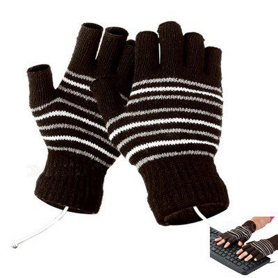 USB Heating Fashion Warm Men Gloves