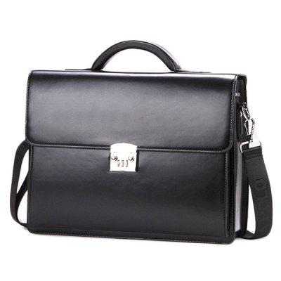 VICUNAPOLO Men's Business Styling Bag Password Lock Briefcase Shoulder