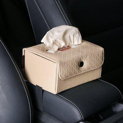 Car Dual-use Tissue Box Paper Box Seat Back-mounted Creative Armrest Box