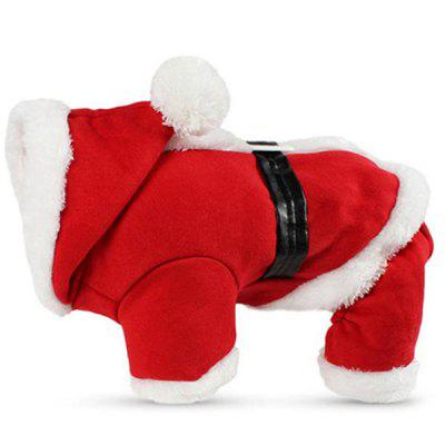 Pet Dog Christmas Camada Dupla Plus Velvet Jumpsuit
