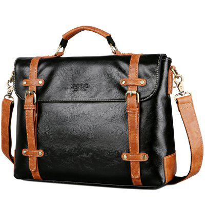 VICUNAPOLO Men Business Briefcase Crossbody Bag