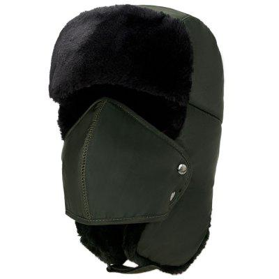 Winter Men Cap with Mask Outdoor Warm Velvet Thickening Cycling Windproof Cap