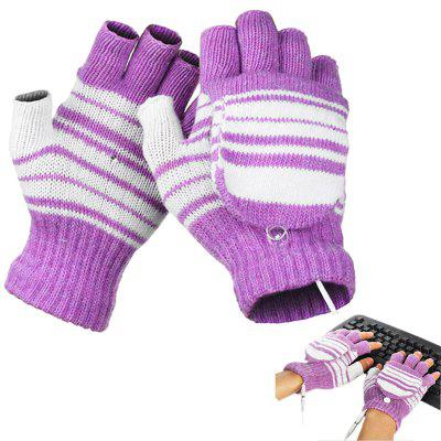 USB Heated Fashion Warm Women Gloves